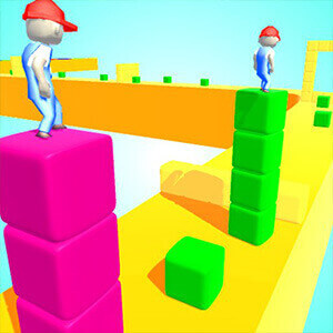 Cube Tower Surfer Game
