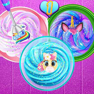 Unicorn Slime Cooking Game